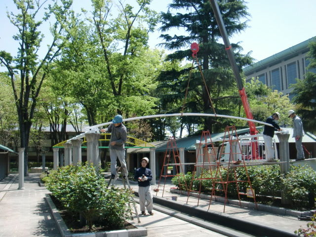 東京競馬場(府中市) 様 ローズガーデン設置工事