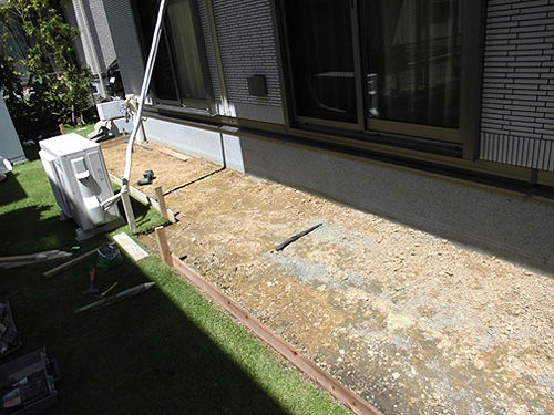 川崎市 はるひ野 M様邸 お庭の改修 工事中写真